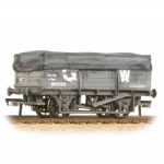 33-088 Bachmann 5 Plank China Clay Wagon GWR Grey With Tarpaulin Cover [W